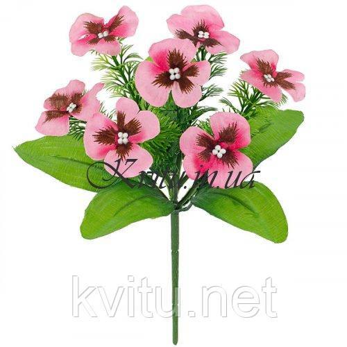 Искусственные цветы букет виола бордюр, 22см