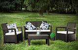 Набор садовой мебели Tarifa Set из искусственного ротанга ( Allibert by Keter ), фото 6