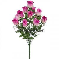 Искусственные цветы букет бутонов роз, 60см