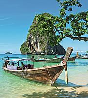 Фотообои флизелиновые 3D Море 225х250 см Лодки на пляже (MS-3-0198)