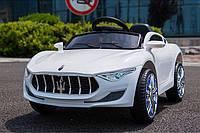 Детский электромобиль LB-8808, Maserati, EVA резина, Кожаное сиденье, дитячий електромобіль, белый