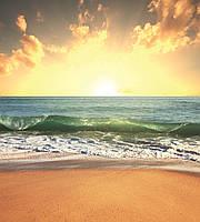 Фотообои флизелиновые 3D Пляж 225х250 см Морской закат (MS-3-0209)