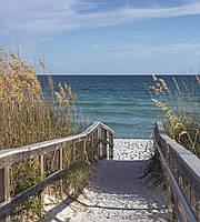 Фотообои флизелиновые 3D Море 225х250 см Дорога на пляж (MS-3-0212)