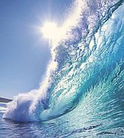 Фотообои флизелиновые 3D Море 225х250 см Морская волна (MS-3-0214)