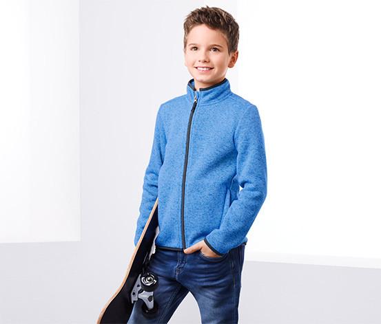 Шикарная трикотажная флисовая куртка от тсм Tchibo (чибо), Германия, размер 122-128