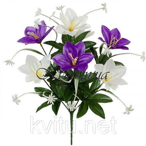 Искусственные цветы букет крокусов Дуэт, 35см
