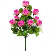 Искусственные цветы букет бутонов роз Ванесса, 54см