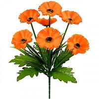 Искусственные цветы букет маков на подкустнике, 33см