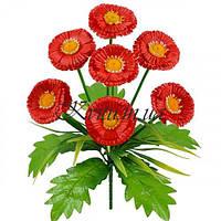 Искусственные цветы букет маргариток Прима, 32см