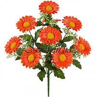 Искусственные цветы букет хризантем, 42см