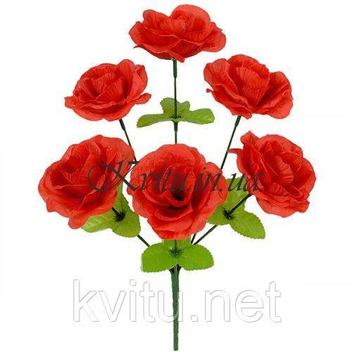 Букет роз искусственных, 32см