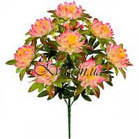 Искусственные цветы букет атласный лотос Королевский, 61см