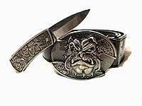 Ремень нож , нож скрытого ношения, пряжка с ножом