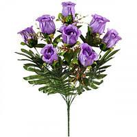Искусственные цветы букет бутон роз Пальмира, 63см