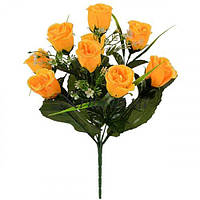 Искусственные цветы букет роз искуссвенных Гран-При , 42см