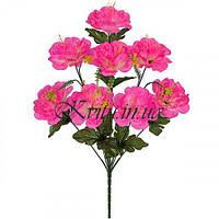 Искусственные цветы букет мальва махровая, 50см