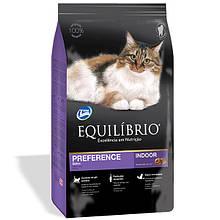 Сухой корм для привередливых кошек Эквилибрио Equilibrio Cat Adult Preference с тунцом 500 г