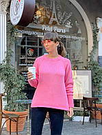 Однотонный женский вязаный свитер прямого кроя 33dmde630, фото 1