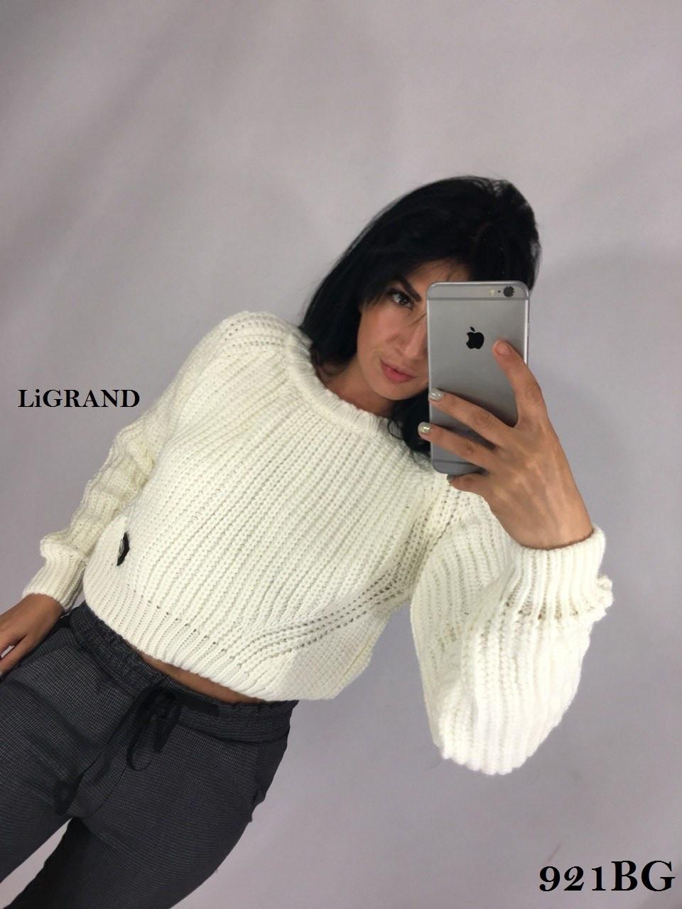 Женский укороченный свитер из объемной вязки 82dmde634, фото 1