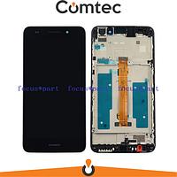 Дисплей для Huawei Y6 II (CAM-L21) с тачскрином (Модуль) черный, с передней панелью (рамкой)