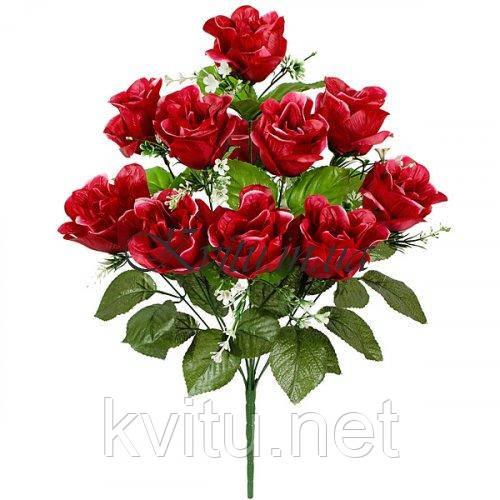 Букет розы атлас Клеопатра, 56см