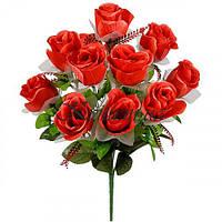 Искусственные цветы букет бутоны гигант атлас с фатином, 57см