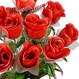 Искусственные цветы букет бутоны гигант атлас с фатином, 57см, фото 2