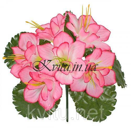Искусственные цветы букет клематис в розетке, 21см