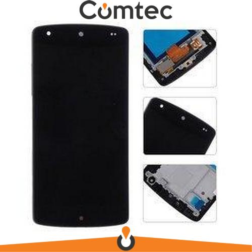Дисплей для LG D820 Nexus 5/D821/D822 с тачскрином (Модуль) черный, с передней панелью (рамкой)