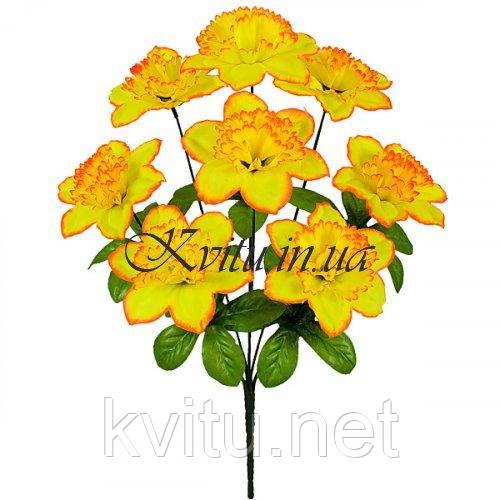 Искусственные цветы букет нарцисса, 44см