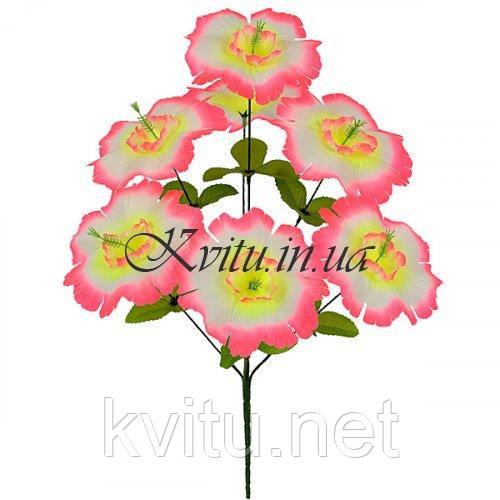 Искусственные цветы букет мальва, 49см