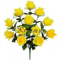 Букет роз односторонний Летний аромат, 55см