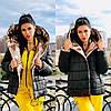 Женская двухсторонняя куртка одеяло с большим капюшоном и карманами 56mku145