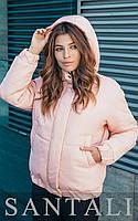 Женская короткая объемная куртка с капюшоном 45mku146, фото 1