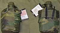 Армейская фляга USA в  термочехле Woodland.