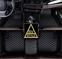 Коврики Acura MDX Кожаные 3D (YD2 / 2006-2013) Чёрные