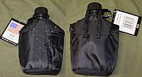 Армейская фляга USA в  термочехле Черная.