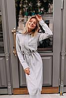 Кашемировое теплое платье миди с длинным рукавом 31mpl182, фото 1