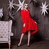 Платье - рубашка с асимметричной пышной юбкой и длинным рукавом 64mpl191
