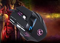 [ Игровая мышка Estone X7 с подсветкой 5500 dpi ] Проводная светодиодная оптическая мышь 7 кнопок