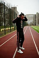 Мужской зимний теплый спортивный костюм с начесом черный красный серый 46-48 48-50 50-52, фото 1