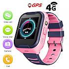 Умные детские часы Smart baby watch A36E Blue 4G видеочат GPS ip67, фото 7