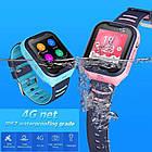 Умные детские часы Smart baby watch A36E Blue 4G видеочат GPS ip67, фото 6
