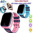 Умные детские часы Smart baby watch A36E Blue 4G видеочат GPS ip67, фото 4