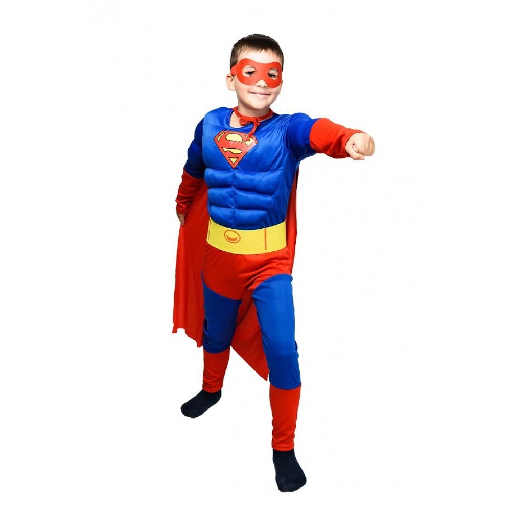 Детский карнавальный костюм Супермена с мышцами