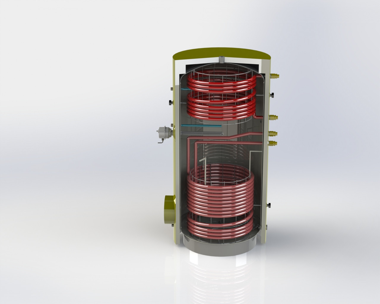 Бак косвенного нагрева BTI-11-200 л
