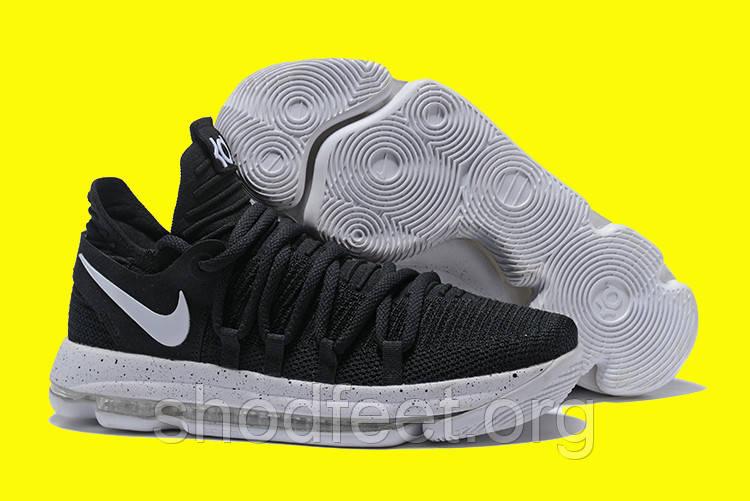 Мужские баскетбольные кроссовки Nike Zoom KD 10 Black White