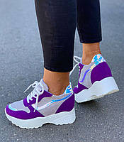 Кроссовки женские 6 пар в ящике фиолетового цвета 36-41, фото 3