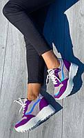 Кроссовки женские 6 пар в ящике фиолетового цвета 36-41, фото 4