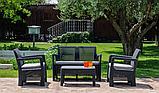 Набор садовой мебели Tarifa Set Graphite ( графит ) из искусственного ротанга ( Allibert by Keter ), фото 7